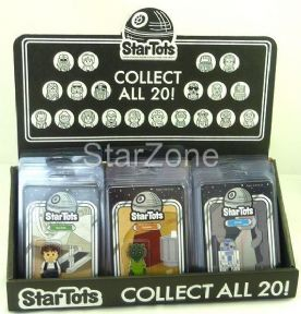 Star Wars Celebration VI Exclusive Full Set of 20 Star Tots & Display Bin